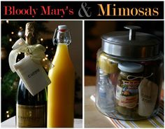 Cute Gifts: Hostess gift for the Cocktail party... Bloody Mary or Mimosas hostess gift