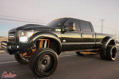 Lifted Cars with Big Rims - Bing images Custom Pickup Trucks, Dually Trucks, Ford Pickup Trucks, Jeep Truck, Chevy Trucks, Ford Diesel, Diesel Trucks, Ford Powerstroke, Lifted Cars