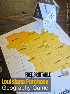 Relentlessly Fun, Deceptively Educational: Louisiana Purchase Geography Game (free printable)