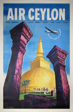 Air Ceylon - The Trunk Route of the Orient design by Don Angus