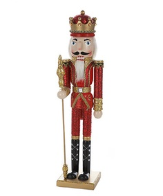 Take a look at this Red & Gold King Nutcracker by The Nutcracker Collection on #zulily today!