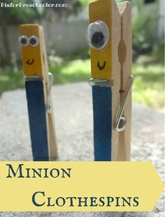 Minions make the cutest clothespins ever - a fun and easy craft idea!