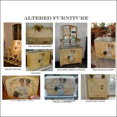How To Decoupage Altered Romantic Furniture E Book G750
