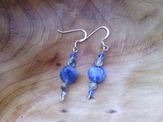 Blue and Silver Sky Earring by PixieMoonCreations on Etsy, $12.00