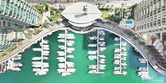 From an altitude of 130 meters, the habour of Dubai Marina has such an awesome scenery with deep green canal and beautiful white boats. Aerial View, Boats, Dubai, City Photo, Scenery, Deep, Gallery, Awesome, Beautiful