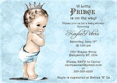 Baby blue made-to-order shower invitations that are DIY printable. unique angel baby shower invitations for boys, vintage baby shower invitation for boys, elegant baby shower invitations Frog Baby Showers, Baby Shower Tea, Baby Shower Vintage, Baby Boy Shower, Baby Shower Invitations For Boys, Baby Shower Favors, Baby Shower Gifts, Bridal Shower, Cute Baby Shower Ideas