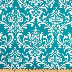 Premier Prints Ozborne True Turquoise - Home Decor Fabric - For Dining Room chair