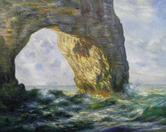 Rock Arch West of Etretat The Manneport  Claude by PaintingMania