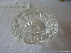Nagy ólomkristály hamutál Punch Bowls, Crystals, Glasses, Retro, Big, Eyewear, Eyeglasses, Crystals Minerals, Rustic
