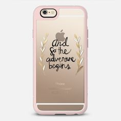 The Adventure Begins on Clear - New Standard iPhone 6/6S Case in Pink Gray and Clear by @tangerinetane #phonecase | @casetify