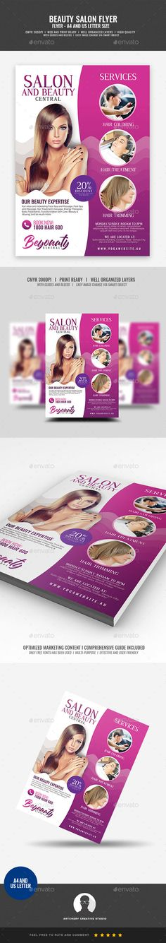 Beauty Salon Flyer  Salons Flyer Template And Template