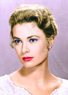 GRACE KELLY TECHNICOLOR CONVERSION BY BEDAZZZLED FROM B/W PRINT