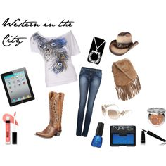 """""""Western Chic"""" by hokuangel on Polyvore"""