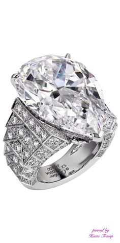 Cartier's 30ct diamond, as seen dangling from the impressive Royal collection necklace, can be removed and placed as the centre stone of a platinum diamond-set ring.