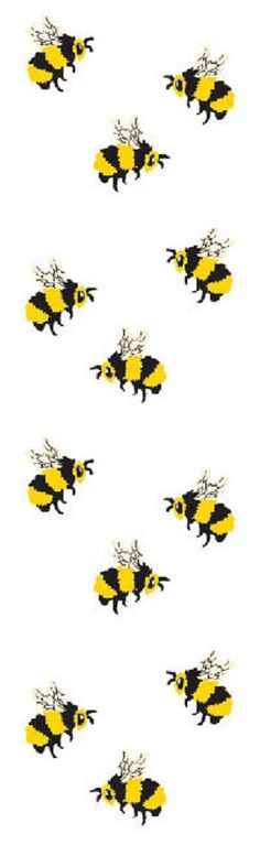 Full Roll - Mrs Grossman's Stickers - BEES by Mrs Grossman's Paper Co Proudly made in the USA Adorable, Funky and Fun! These Honey Bee / Bumble Bee Stickers are Great for Crafting, Card Making, Paper