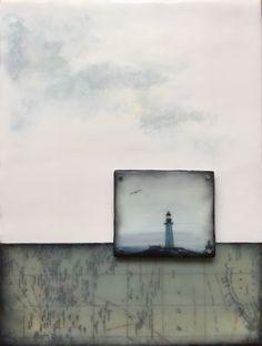 """Sea wonders"" Encaustic Plus Wax Art, Landscape Drawings, Encaustic Painting, Linocut Prints, Collage Art, Photo Art, Artwork, Mixed Media, Lino Cuts"
