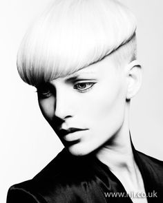 2012 womens blonde short hairstyle hairstyle    A blonde crop with shaved undercut was roughly blow-dried using a round brush to add a shiny finish and smooth out the hair. Hair was then smoothed over with a matte-finish paste to remove any flyaways.     Hairstyle by: Joey Scandizzo  Hairstyle picture by: Andrew O'Toole  Salon: Joey Scandizzo Salon  Location: Australia
