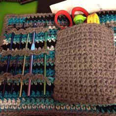 Crocheted crochet hook and tool holder: Inside