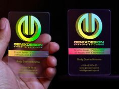 Holographic Business Card Printed On Tranpa Material
