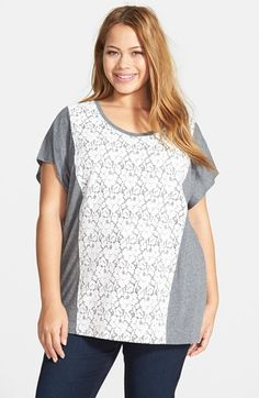 Sejour Lace Front Tee available at #Nordstrom
