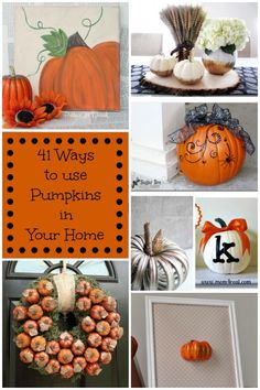 41 Ways To Decorate With Pumpkins In Your Home | Mom 4 Real