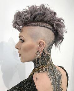 Fashion, hair, hair color, purple hair