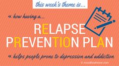 This week's moodfoodmove theme is how 'Making a Relapse Prevention Plan' helps people prone to depression, addiction, anxiety. I'l be going into more detail through the week, but I'd like to first make four points. One: yes, you do need a Relapse Prevention Plan (RPP). Two: make the RRP when your mental health is good. Three: give a copy of the RRP to a trusted member of Team You. Four: the RRP is important, so take your time to make a good one.