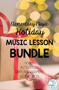 Put some holiday sparkle into your December music lessons. Your K-6 Music Class Students will be singing solfege, playing xylophones, writing notes and exploring vocal range in this December Music Lesson Bundle with songs, games, and activities. #singplaycreate  #musicclassresource  #musiceducation  #elementarymusiced  #musiced  #elementarymusiceducation  #musicandmovement #tptteacher #preschool #homeschool #movementactivities #holidaysongs #orfflessons #orffteacher #christmassongs