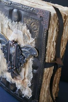 Book of Shadows??? <3<3  love those altered books--<3<3  #Spell books #halloween altered books #creepy spell books