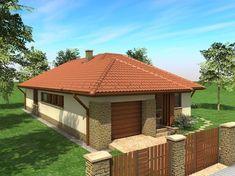 Egyszintes családi ház 155 m2 Small House Layout, Small House Design, House Layouts, Japanese Interior Design, Home Design Plans, My Dream Home, Planer, Gazebo, Entrance