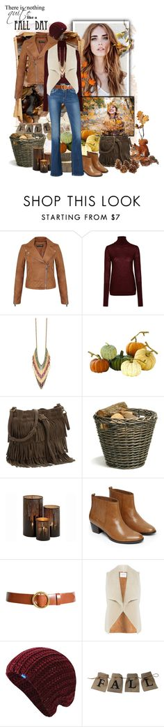 """Faux Shearling Vest"" by gokarm ❤ liked on Polyvore featuring Miss Selfridge, Nicole Farhi, Home Decorators Collection, Garden Trading, Warehouse, Pepe Jeans London, Frame, Velvet, Keds and fringe"