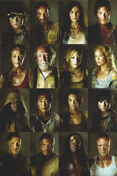 The Walking Dead Cast. Making you feel clean, well fed and zombie free.