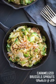 Caramelized Brussels Sprouts with Lime and Crispy Shallots Recipe | stupideasypaleo.com