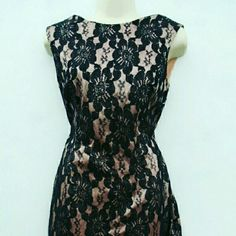 HP 10/10 PINK LACE&SEXY 3 STRAP BACK PENCIL DRESS ******ONE DAY SALE?*********** Host Pick* 10/10/15 Insta-Chic PRICE DROPPED!! ADRIANNA PAPELL For Hailey Dress is knee length, longer than picture. Adrianna Papell Dresses