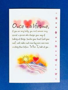 Thank You Quotes Discover Once in a Lifetime love greeting card Birthday Wishes For A Friend Messages, Happy Birthday Quotes For Friends, Happy Birthday Wishes Cards, Birthday Wishes Quotes, Birthday Greeting Cards, Birthday Greetings, Birthday Poems, Birthday Board, Special Friend Quotes