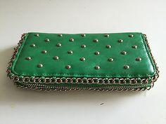 10.88$  Buy here - http://vibih.justgood.pw/vig/item.php?t=58s84rt23445 - Vintage Baronet Greenish/Gold Wallet Clutch