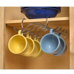 Need this! Under cabinet mug holder. this would be great save so much space!