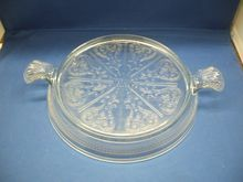 Fire-King Sapphire Blue Ovenware Trivet Hot Plate Table Server