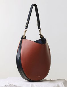 Hobo Handbag Brick Multicolour Smooth Calfskin |Celine Fall 2014