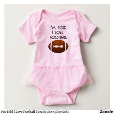 I'm Told I Love Football Tutu Tshirt