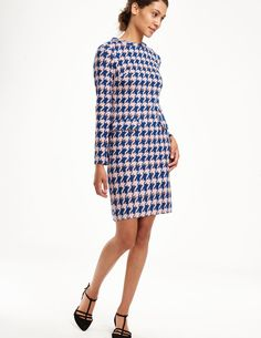 Sixties Jacquard Tunic Dress WH892 Day Dresses at Boden