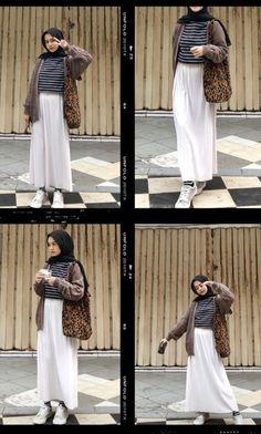 Modern Hijab Fashion, Hijab Fashion Inspiration, Muslim Fashion, Modest Fashion, Fashion Ideas, Style Inspiration, Casual Hijab Outfit, Ootd Hijab, Skirt Fashion