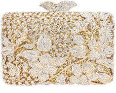 5f436b3f0c7 Amazon.com: Fawziya Kisslock Flower Purses With Rhinestones Crystal Clutch  Evening Bag-Gold: Shoes