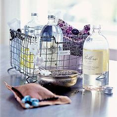 Laundries and mudrooms - mylusciouslife.com - Laundry basket  I could make a few of these baskets for Christmas gifts . . . Chicken wire basket?