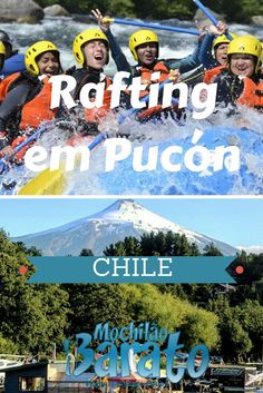 Rafting radical em Pucón no Chile.