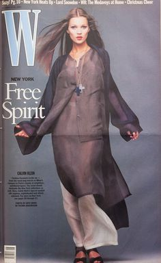 Kate Moss on the cover of W Magazine November 1992