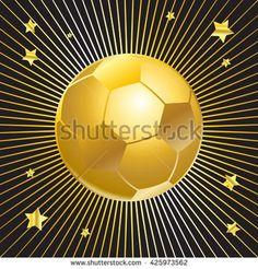 Gold Soccer Ball Award Icon Goal Football Stars Wallpaper