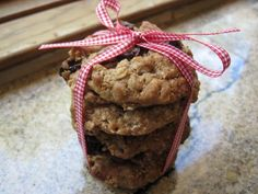 Baked Oatmeal Cherry Nut Cookies
