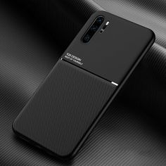Ultra Thin Moire Soft TPU Case For Huawei V30 P30 P20 P10 Mate 20 30 10 8 Lite Nova 6 Se 5 5I Pro Built-In Car Magnet Back Cove Curtain Rings With Clips, Car Holder, Car Magnets, Skin Case, Minimal Design, Leather Case, Pu Leather, Galaxies