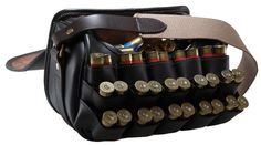 Croots - Byland Leather Loaders Bag Designed to enable quick loading and has a capacity of 150 cartridges plus 15 pairs mounted on the front hinged